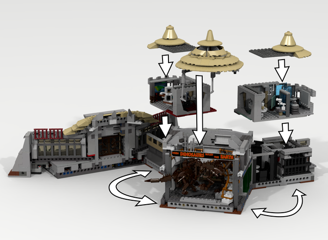 Lego ideas jurassic park visitor center - Jurasic park lego ...