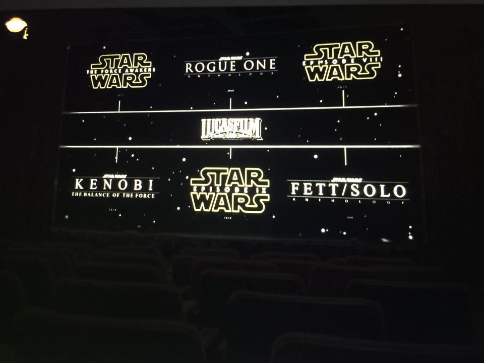 Star Wars - i film in arrivo