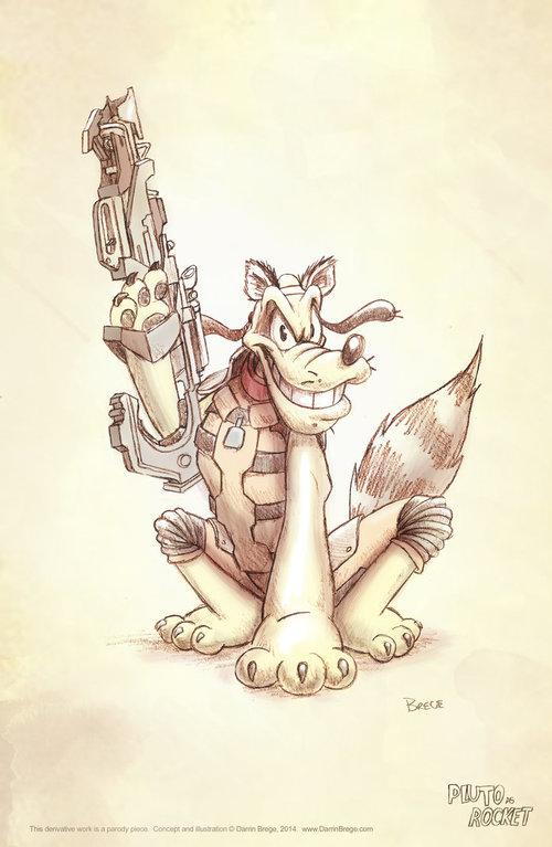 Pluto Rocket Raccoon