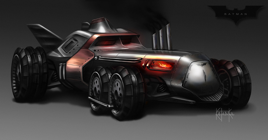 Kataoka steampunk batmobile 01