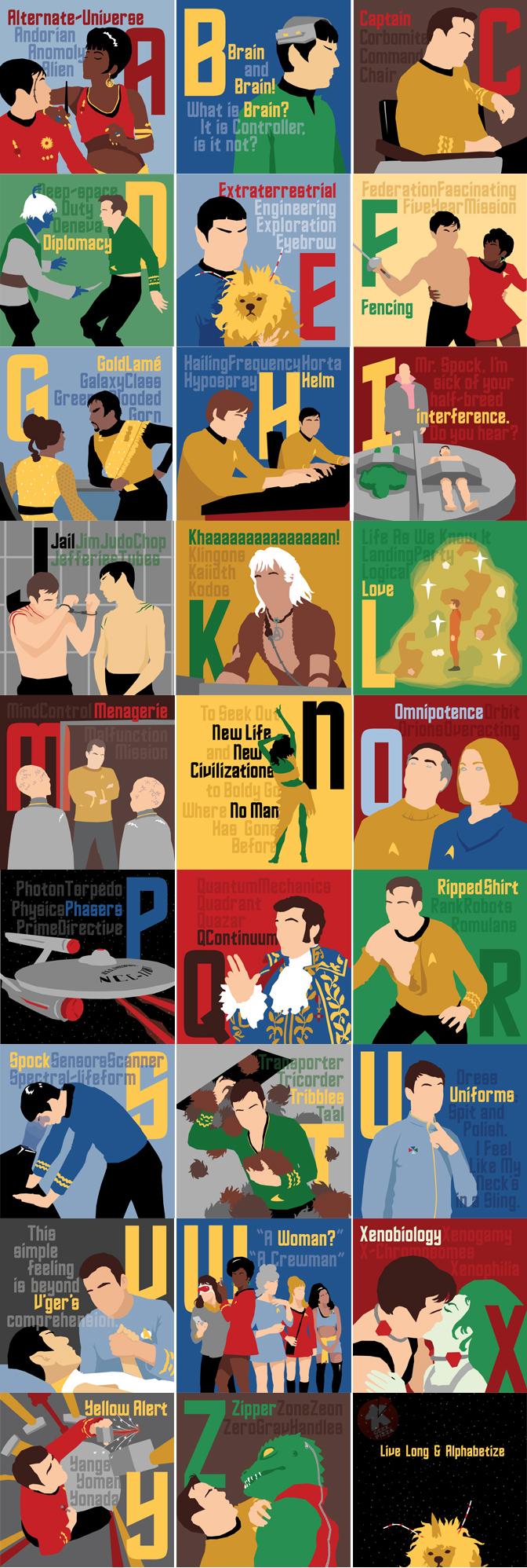 Star Trek Alfabeto completo