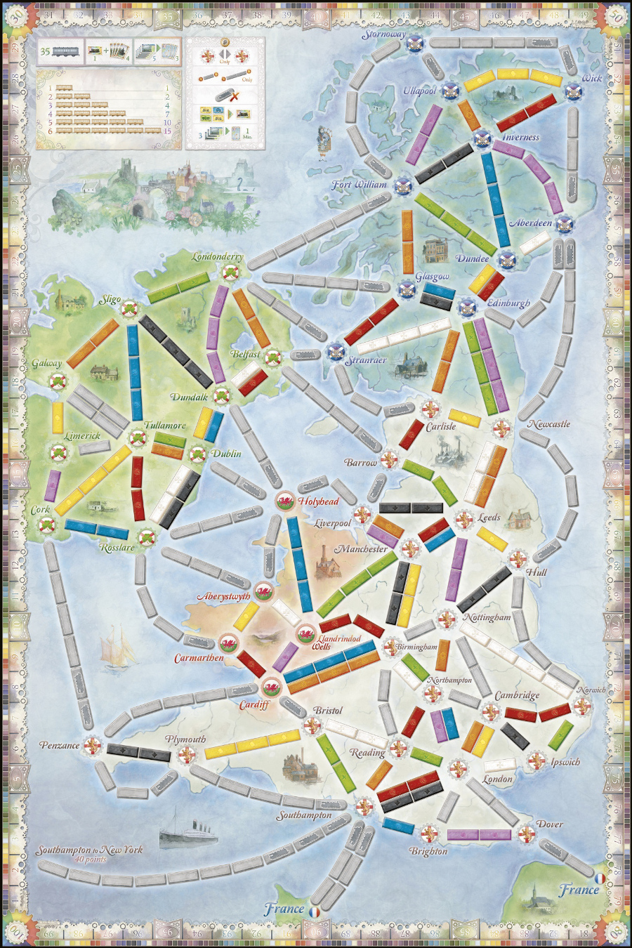 Ticket To Ride UK mappa