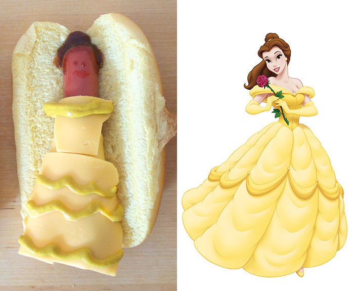 Disney Hot Dog - Belle