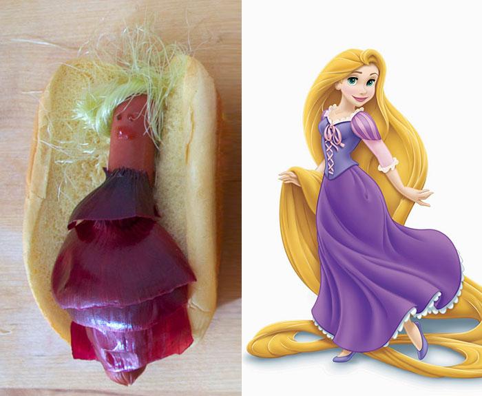 Disney Hot Dog - Rapunzel