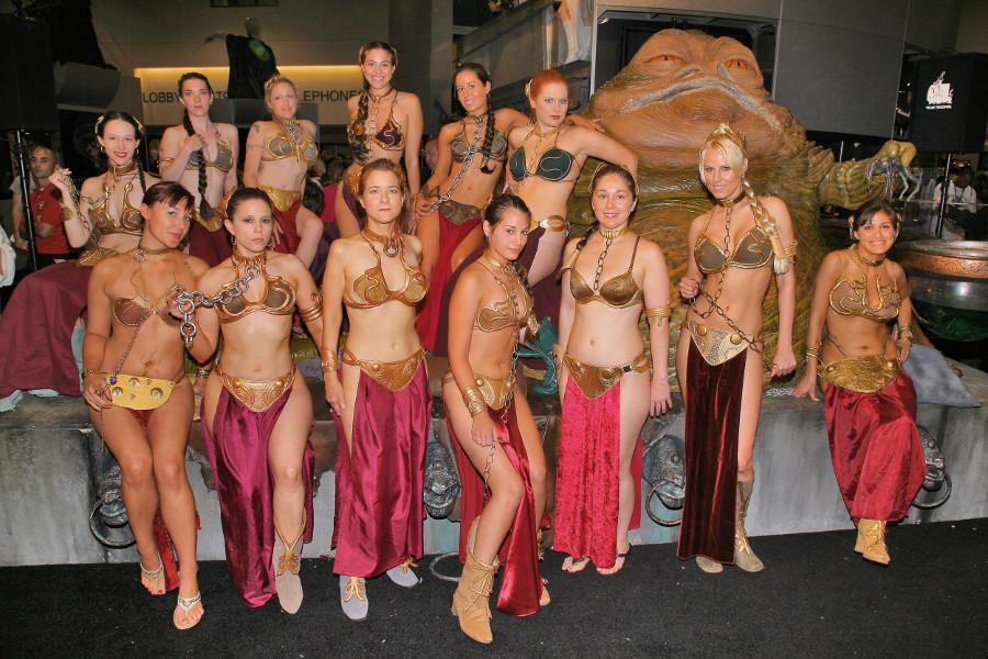 Star Wars Slave Leia foto di gruppo