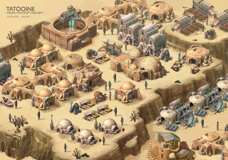 Star Wars Outpost bozza Tatooine