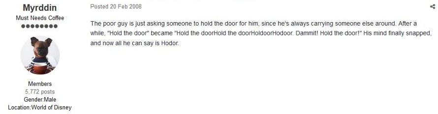Hodor Hold The door